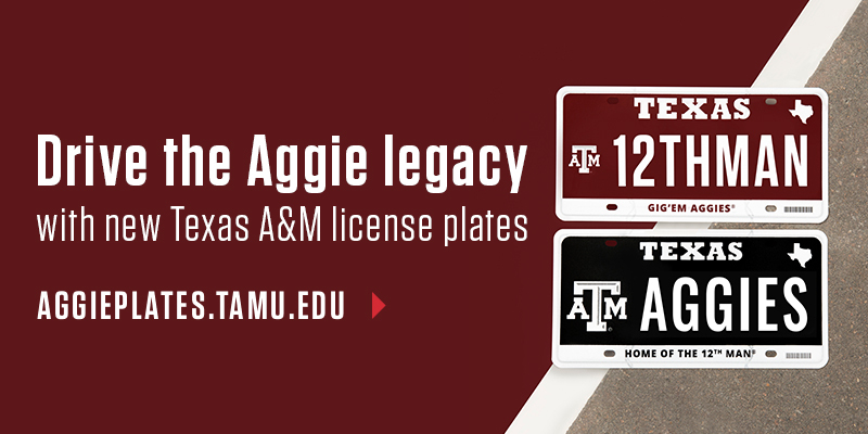 Get Your Aggie Plate Today!